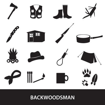 huntsman: black backwoodsman icon set
