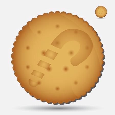 bułka maślana: Boże Narodzenie brązowy ciastko z lizak symbol eps10 Ilustracja