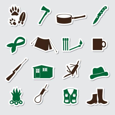 huntsman: simple backwoodsman stickers set