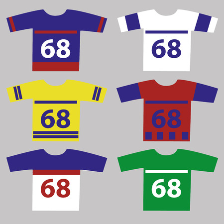 ice hockey player: ice hockey jersey set with player numbers