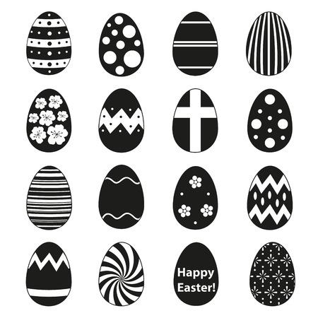 easteregg: various black Easter eggs design collection