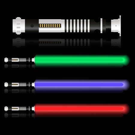 semaforo rosso: rosso blu e verde futuri luce spade eps10