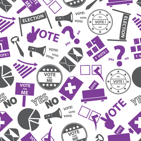 preference: election simple icons seamless color pattern eps10