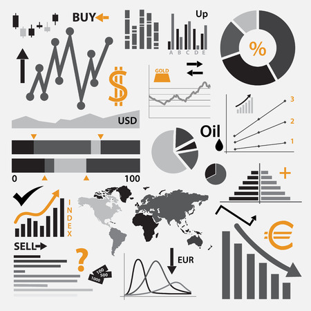 stocks: various graphs for your business or stock market
