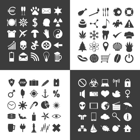 general: set of 100 various general icons for your use