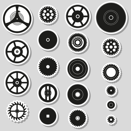 watch movement: various cogwheels parts of watch movement stickers