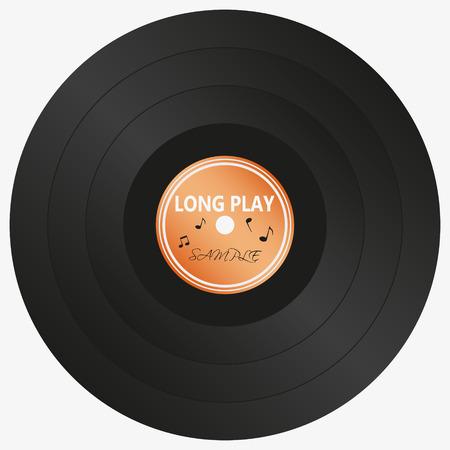 lp: long play LP audio music media symbol Illustration