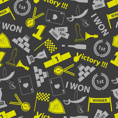 flawless: flawless victory symbols seamless color pattern
