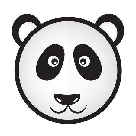 black and white panda bear head