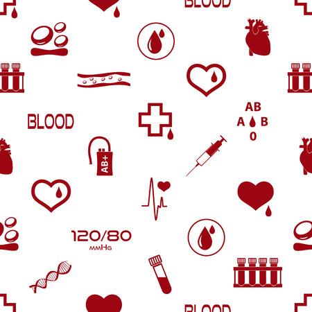 red tube: simple vector sangre iconos sin fisuras patr�n Vectores