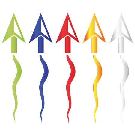 cursors: color computer mouse cursors symbols icons  Illustration