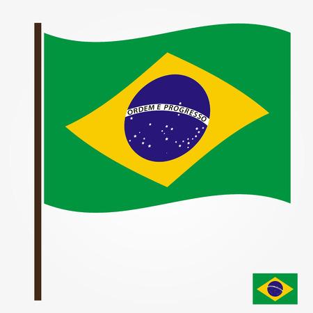 national symbol: brazil flag national symbol color vector eps10