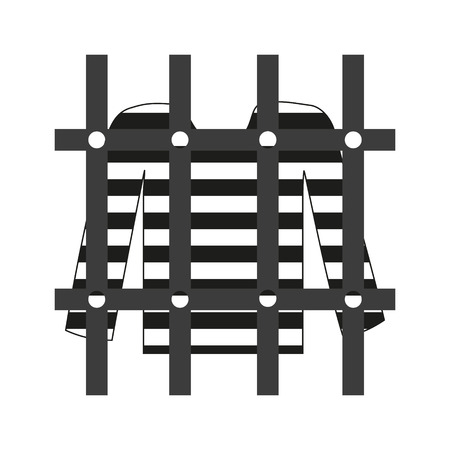 prisoner shirt in prison grayscale icon eps10 Vector