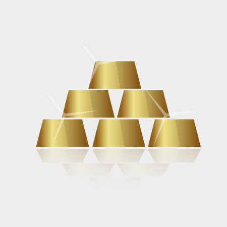expensive: expensive shiny gold bricks pyramid vector eps10 Illustration