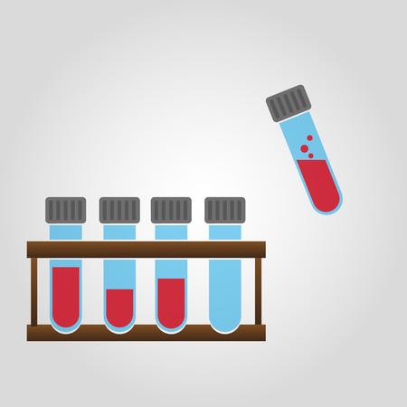 red tube: tubos de vidrio de laboratorio de ciencias con eps10 sangre Vectores