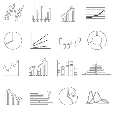 valorization: black outline simple graphs variations