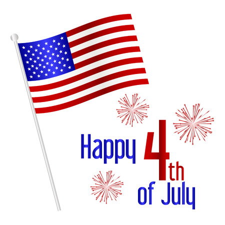 american independence day celebration with flag 版權商用圖片 - 40016638