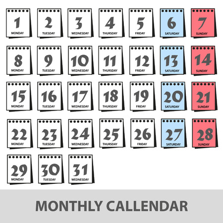2 5 months: monthly wall calendars with days icons set eps10