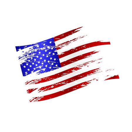 flags america: color de estilo grunge bandera nacional americana Vectores