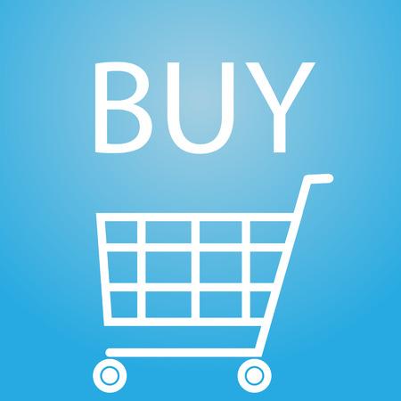 slogan: buy slogan and shopping cart symbol eps10 Illustration