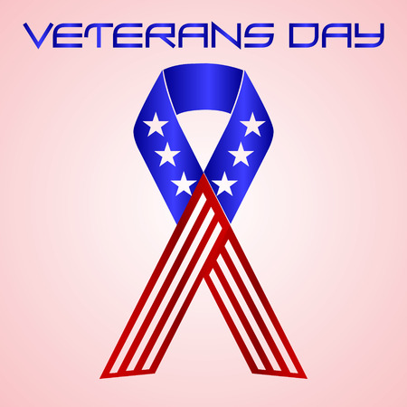 veterans: american veterans day celebration in americal colors eps10