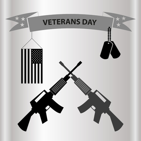 grayscale: american veterans day celebration in grayscale