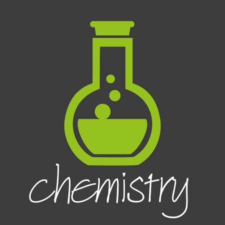 corrosive poison: chemistry flask research design banner and background