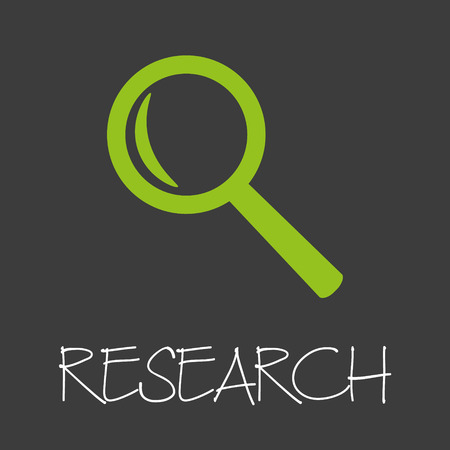 lens unit: magnifier research design banner and background  Illustration
