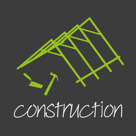 industrial design: construction industrial design banner and background