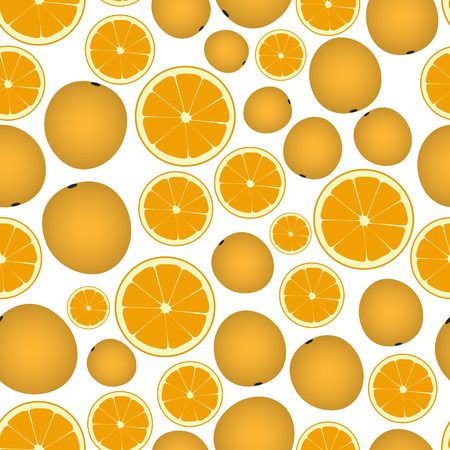 wallop: colorful orange fruits and half fruits seamless pattern eps10