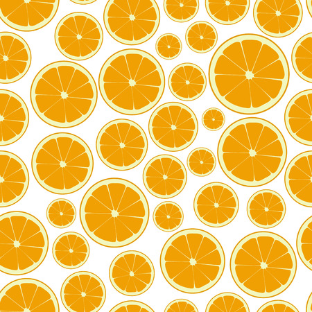 wallop: half color orange fruits seamless pattern