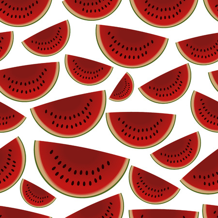 wallop: colorful sliced melon fruits seamless pattern   Illustration
