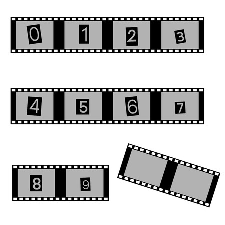 grayscale: grayscale film and movie with numbers symbols