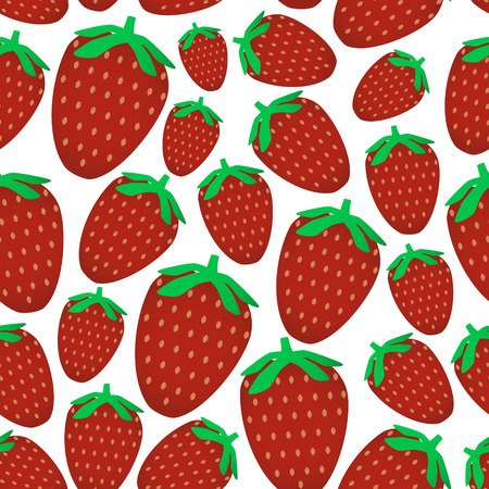 wallop: colorful red strawberries fruits seamless pattern