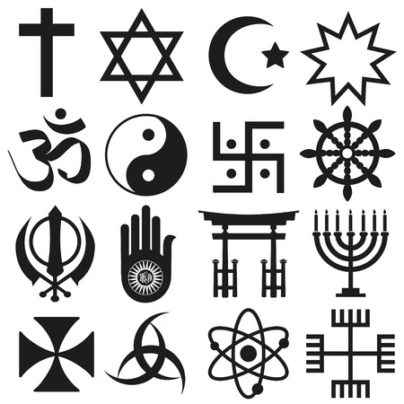 world religions symbols vector set of icons Stok Fotoğraf - 41824871