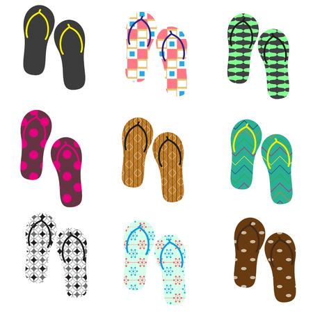 flip flops: colorful variation of flip flops summer shoes