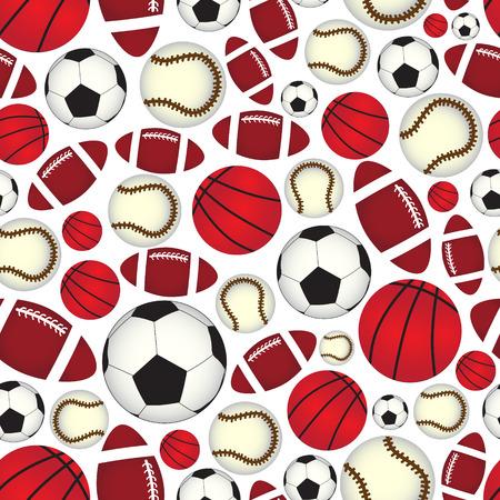 balones deportivos: varias bolas de deportes patrón de color transparente Vectores