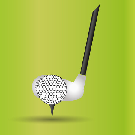 hit man: golf club and ball sport commercial design banner and background
