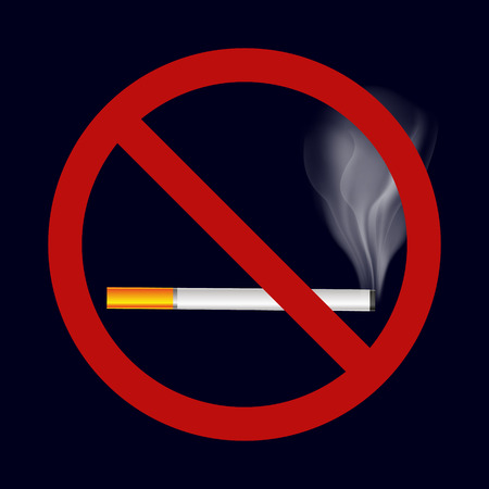 smoking cigarette: single isolated stop smoking cigarette vector symbol