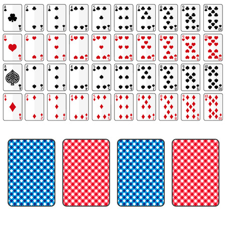 set of playing cards from ace to ten eps10 Illustration