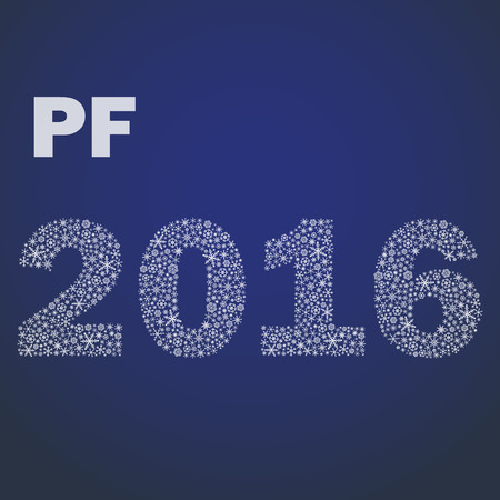 pf: happy new year pf 2016 from little snowflakes