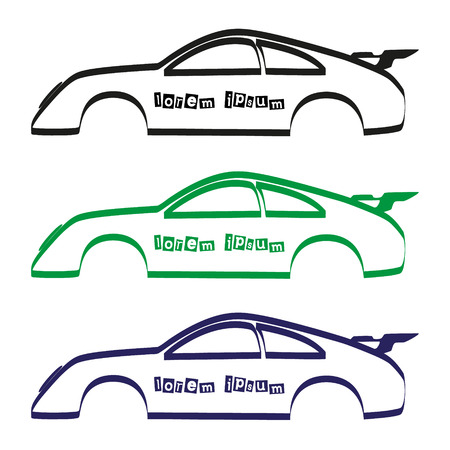 car showroom: car body silhouette for your commercial use