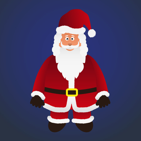 outfit: colorful cartoon Santa Claus with red outfit eps10