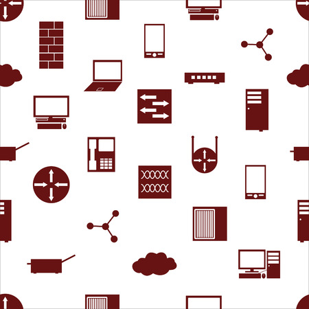repaired: network icons white simple seamless pattern repaired