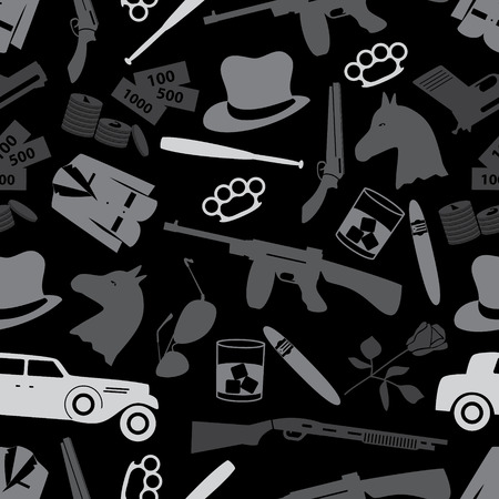 caballo bebe: mafia s�mbolos negros criminales e iconos patr�n eps10 sin fisuras