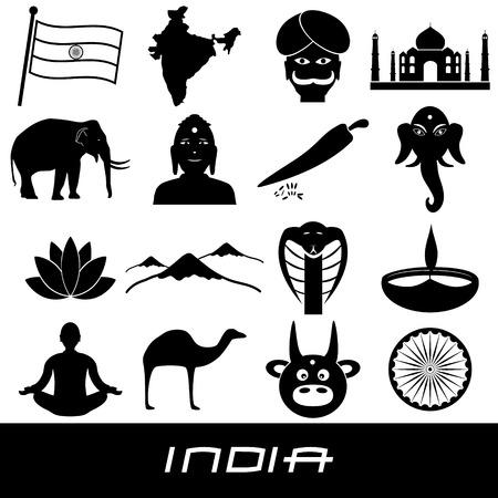 divali: india country theme symbols stickers set eps10