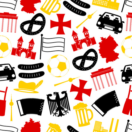 cross and eagle: germany country theme symbols seamless pattern