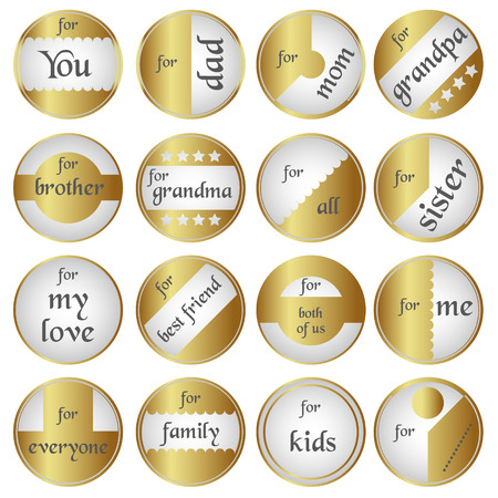 shiny gold: shiny gold gift round tags for gifts eps10