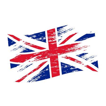 bandera de gran bretaña: reino unido de color eps10 estilo grunge bandera nacional