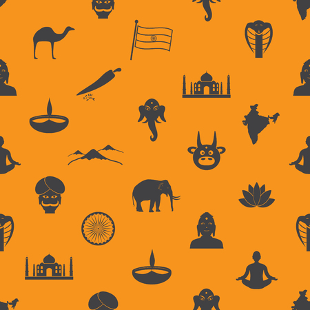 divali: india country theme symbols seamless color pattern eps10